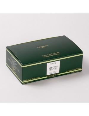 Infusion Cristal Dammann boîte de 24 sachets suremballés Verveine Menthe