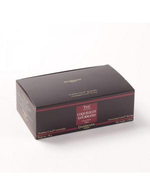 Thé cristal Dammann boîte de 24 sachets suremballés Coquelicot Gourmand