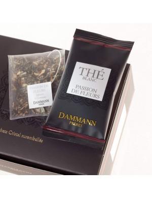 Thé cristal Dammann boîte de 24 sachets suremballés Passion de Fleurs