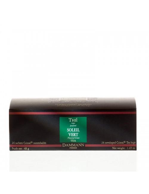 Thé cristal Dammann boîte de 24 sachets suremballés Soleil Vert
