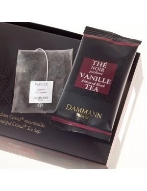 Thé cristal Dammann boîte de 24 sachets suremballés Vanille