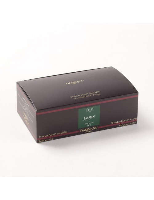 Thé cristal Dammann boîte de 24 sachets suremballés Vert au Jasmin