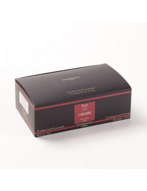 Thé cristal Dammann boîte de 24 sachets suremballés Caramel