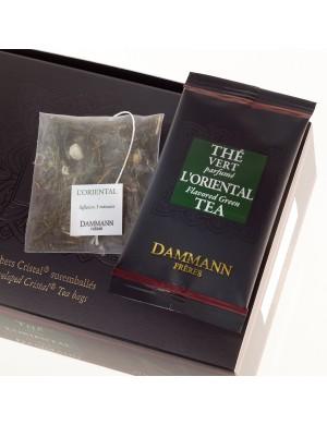 Thé cristal Dammann boîte de 24 sachets suremballés Vert l'Oriental