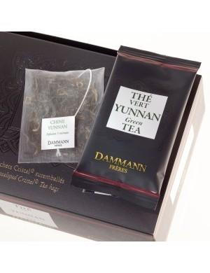 Thé cristal Dammann boîte de 24 sachets suremballés Vert Yunnan