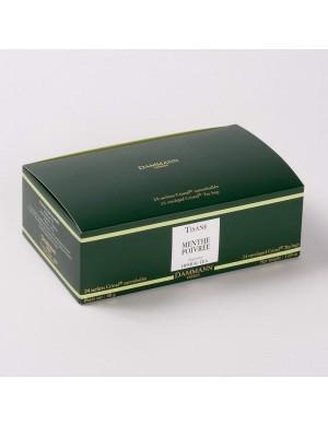 Infusion Cristal Dammann boîte de 24 sachets suremballés Menthe Poivrée