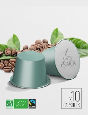 Capsules compatibles Nespresso x 10 Pérou Bio Max Havelaar compostable et biodégradable