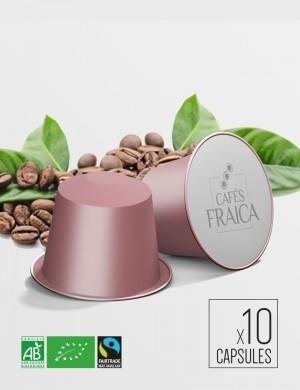 Capsules compatibles Nespresso x 10 Honduras Bio Max Havelaar compostable et biodégradable