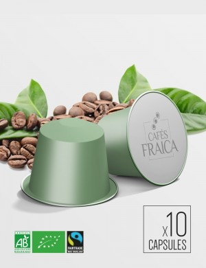 Capsules compatibles Nespresso x 10 Mexique Bio Max Havelaar compostable et biodégradable