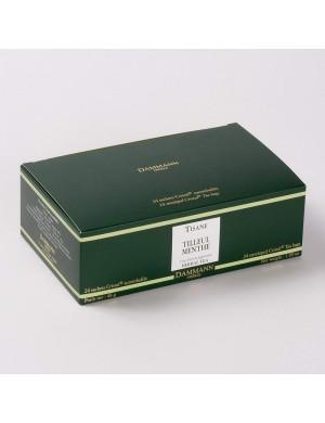 Infusion Cristal Dammann boîte de 24 sachets suremballés Tilleul Menthe